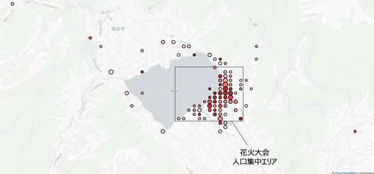 図5: 2018年8月15日の諏訪湖周辺の異常メッシュ